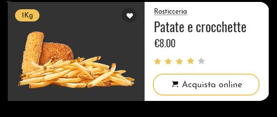 vendita patate e crocchette
